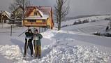 Chata Adam v zime